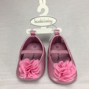 NWT Koala Baby Pink Shoes with a Flower